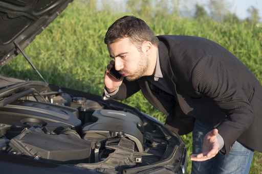 image of a man with engine trouble - auto repair service in Bedford PA